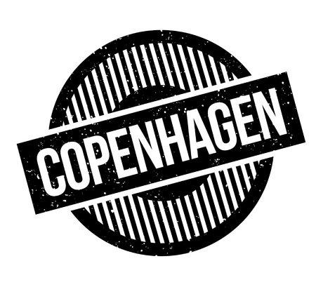 Copenhagen rubber stamp. Grunge design with dust scratches. Effects can be easily removed for a clean, crisp look. Color is easily changed.  イラスト・ベクター素材