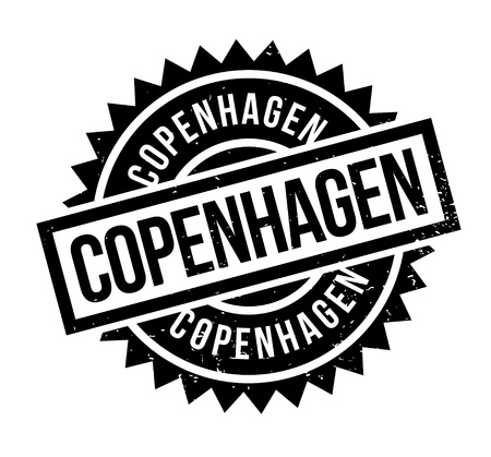 Copenhagen rubber stamp. Grunge design with dust scratches. Effects can be easily removed for a clean, crisp look. Color is easily changed. Illustration