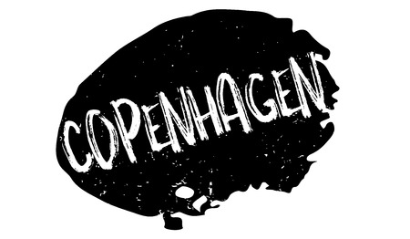 Copenhagen rubber stamp. Grunge design with dust scratches. Effects can be easily removed for a clean, crisp look. Color is easily changed. Vettoriali