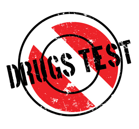 Drugs Test rubber stamp. Grunge design with dust scratches. Effects can be easily removed for a clean, crisp look. Color is easily changed. Illustration