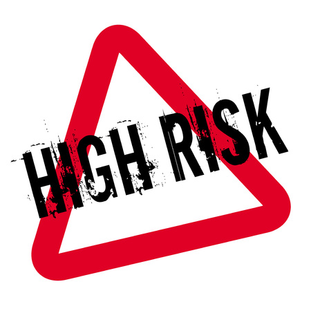 High Risk typographic stamp. Typographic sign, badge or icon.
