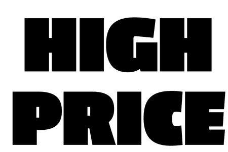 High Price  typographic stamp. Typographic sign, badge or logo.