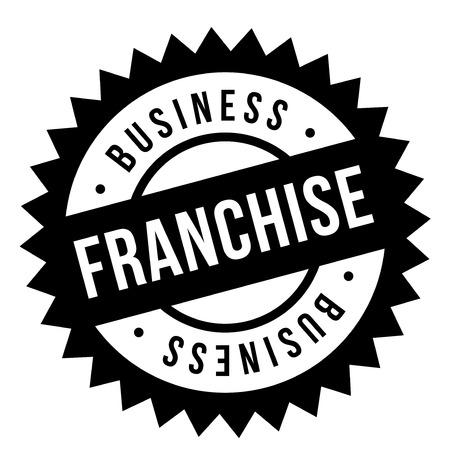 Franchise stempel. Typografisch teken, stempel of logo Stockfoto - 95726686