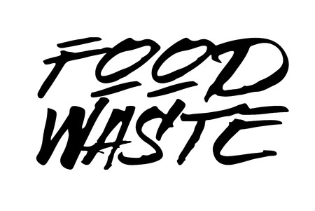 Food Waste stamp. Typographic sign, stamp or logo Illustration