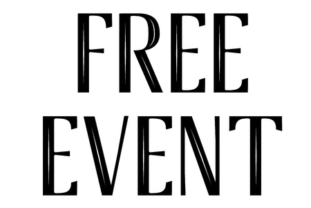 Free Event stamp. Typographic sign, stamp or logo Illustration