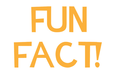 Fun Fact stamp. Typographic sign, stamp or icon
