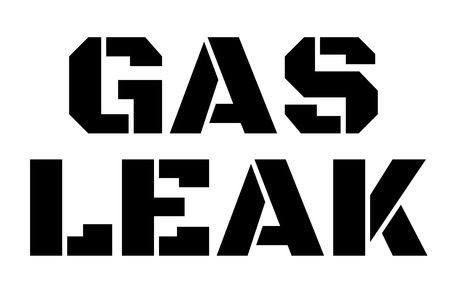 Gas Leak stamp. Typographic sign, stamp or icon 向量圖像
