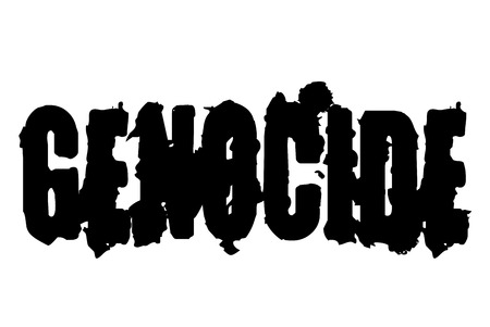 Genocide stamp. Typographic sign, stamp or icon Ilustrace