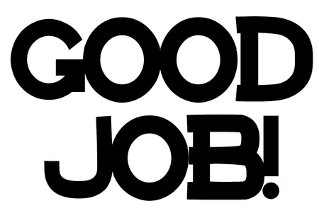 Good Job stamp. Typographic sign, stamp or logo