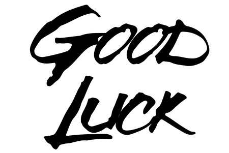 Good Luck stamp. Typographic sign, stamp or logo
