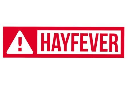 Hayfever  typographic stamp. Typographic sign, badge or logo