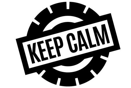 Keep Calm typographic stamp. Typographic sign, badge or logo. Illustration