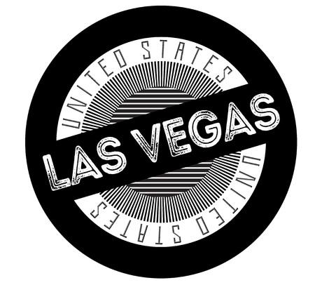 Las Vegas typographic stamp. Typographic sign, badge or logo.