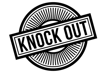 Knock Out typographic stamp. Typographic sign, badge or logo. Иллюстрация