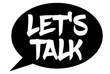 Lets Talk typographic stamp. Typographic sign, badge or logo.