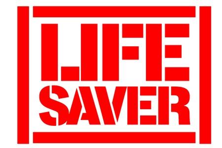 Life Saver typographic stamp. Typographic sign, badge or logo.