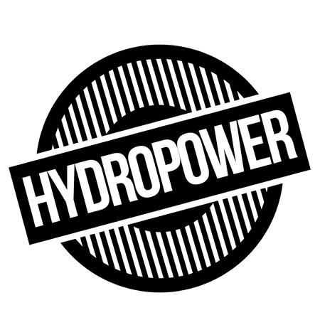 Hydropwer  typographic stamp. Typographic sign, badge or logo Illustration