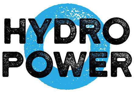 Hydropwer  typographic stamp. Typographic sign, badge Illustration