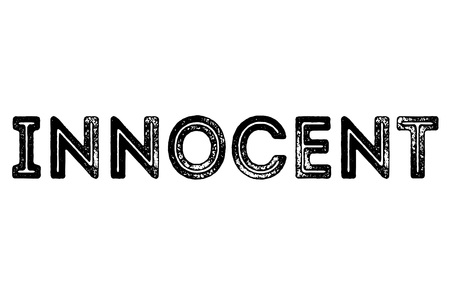 Innocenttypographic stamp. Typographic sign, badge or icon