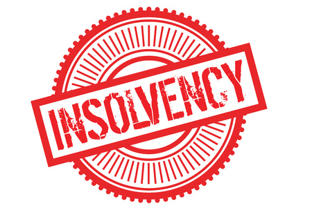 Insolvency typographic stamp. Typographic sign, badge or icon Ilustrace