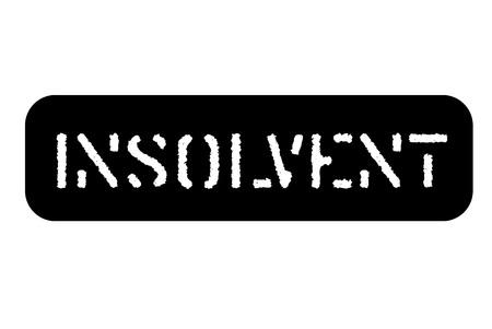 Insolvent typographic stamp. Typographic sign, badge or icon
