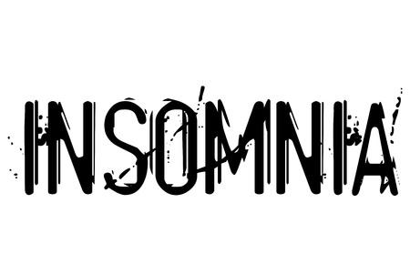 Insomnia typographic stamp. Typographic sign, badge or icon