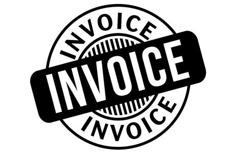 Invoice  typographic stamp. Typographic sign, badge or logo