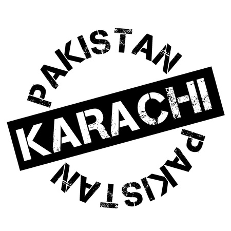 Karachi  typographic stamp. Typographic sign, badge or logo Illustration
