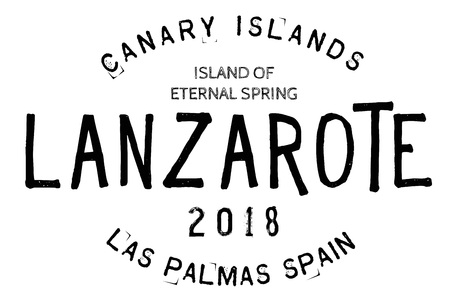 Lanzarote  typographic stamp. Typographic sign, badge or logo