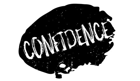 Confidence rubber stamp. Grunge design with dust scratches. Effects can be easily removed for a clean, crisp look. Color is easily changed.