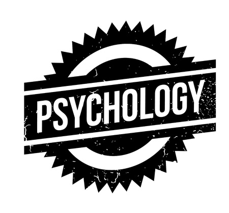 Psychology rubber stamp. Grunge design with dust scratches. Effects can be easily removed for a clean, crisp look. Color is easily changed. Stock Vector - 95875377