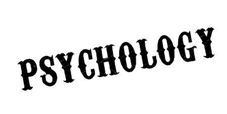 Psychology rubber stamp. Grunge design with dust scratches. Effects can be easily removed for a clean, crisp look. Color is easily changed. Stock Vector - 95875404