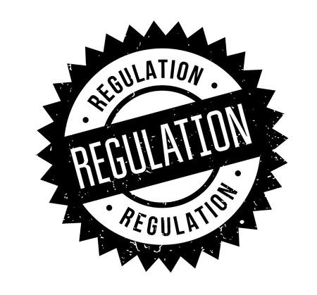 Verordnung Stempel. Grunge Design mit Staubkratzern. Effekte können einfach entfernt werden, um ein sauberes, klares Aussehen zu erhalten. Farbe wird leicht geändert. Vektorgrafik