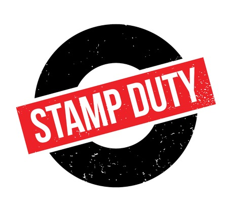 Stamp Duty rubber stamp. Grunge design with dust scratches. Effects can be easily removed for a clean, crisp look. Color is easily changed. Banque d'images - 95875467