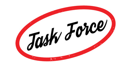 Task Force rubber stamp. Grunge design with dust scratches. Effects can be easily removed for a clean, crisp look. Color is easily changed. Illustration