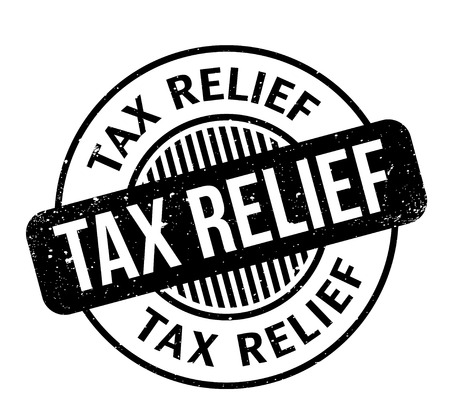 Tax Relief rubber stamp. Grunge design with dust scratches. Effects can be easily removed for a clean, crisp look. Color is easily changed. Vectores