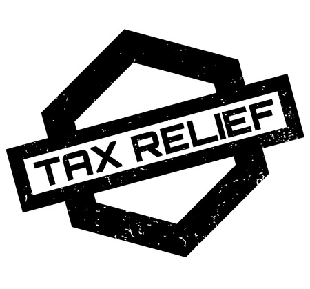 Tax Relief rubber stamp. Grunge design with dust scratches. Effects can be easily removed for a clean, crisp look. Color is easily changed. Vettoriali