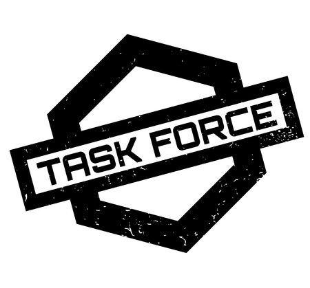 Task Force rubber stamp. Grunge design with dust scratches. Effects can be easily removed for a clean, crisp look. Color is easily changed. 向量圖像