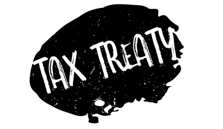 Tax Treaty rubber stamp. Grunge design with dust scratches. Effects can be easily removed for a clean, crisp look. Color is easily changed.