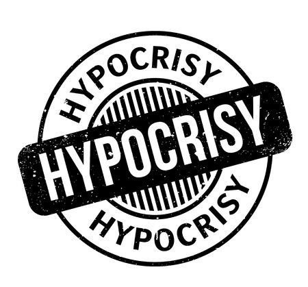 Hypocrisy rubber stamp. Grunge design with dust scratches. Effects can be easily removed for a clean, crisp look. Color is easily changed. Stock Vector - 95771005