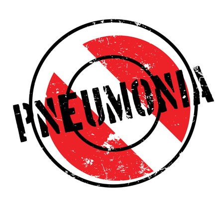 Pneumonia rubber stamp. Grunge design with dust scratches. Effects can be easily removed for a clean, crisp look. Color is easily changed. Illustration
