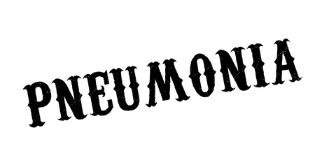 Pneumonia rubber stamp. Grunge design with dust scratches. Effects can be easily removed for a clean, crisp look. Color is easily changed. Stock Illustratie