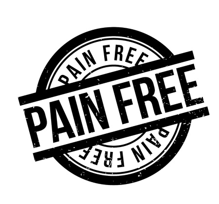 Pain Free rubber stamp. Grunge design with dust scratches. Effects can be easily removed for a clean, crisp look. Color is easily changed. Ilustração