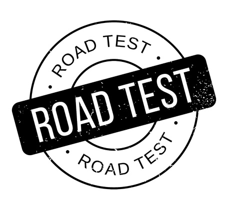 Road Test rubber stamp. Grunge design with dust scratches. Effects can be easily removed for a clean, crisp look. Color is easily changed. Stock Illustratie