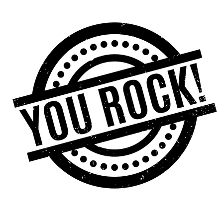 You Rock rubber stamp. Grunge design with dust scratches. Effects can be easily removed for a clean, crisp look. Color is easily changed. Vettoriali