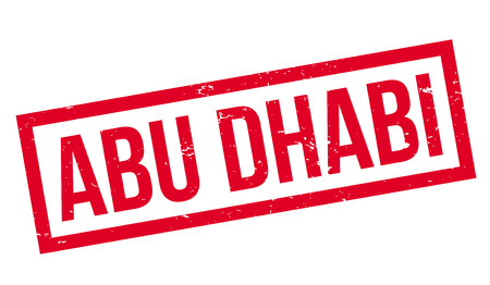 Abu Dhabi rubber stamp. Grunge design with dust scratches. Effects can be easily removed for a clean, crisp look. Color is easily changed. 向量圖像