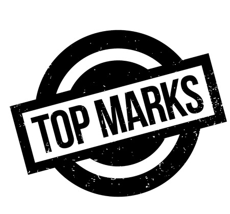 Top Marks rubber stamp. Grunge design with dust scratches. Effects can be easily removed for a clean, crisp look. Color is easily changed. Stock Illustratie