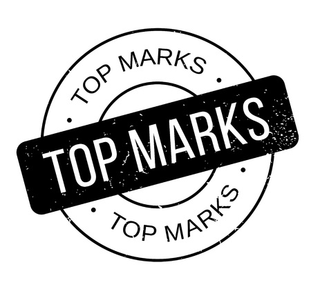Top Marks rubber stamp. Grunge design with dust scratches. Effects can be easily removed for a clean, crisp look. Color is easily changed. Vectores