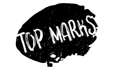 Sello de goma de las mejores marcas. Diseño de grunge con arañazos de polvo. Los efectos se pueden eliminar fácilmente para una apariencia limpia y nítida. El color se cambia fácilmente. Ilustración de vector