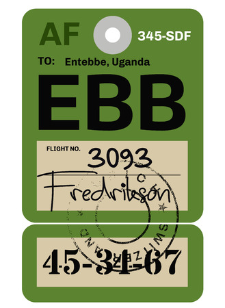 Entebbe airport luggage tag design